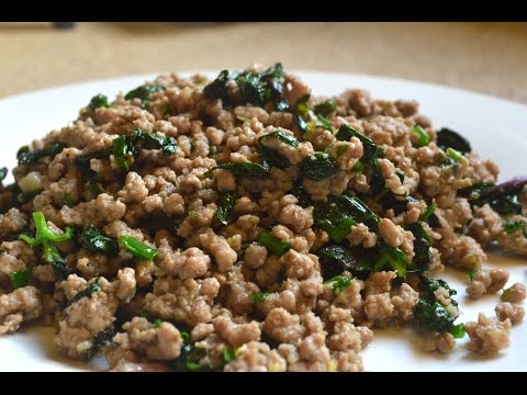 How To Make Thai Style Minced Pork (View in HD)