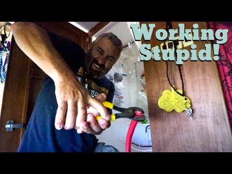 Van Life; Working Stupid! Breaker Box & Controller Done! The Lance Camper Solar Project! Part 9