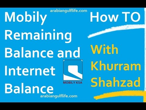 Check Mobily Remaining Credit and Data Balance