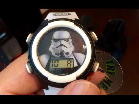 Kids' Star Wars Storm Trooper STM3488 Digital Display Analog Quartz White Watch