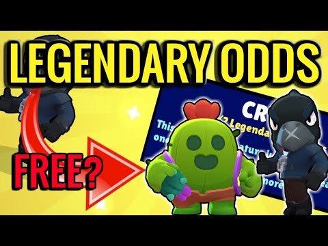 Legendary Brawler Drop Rates! How Long to get one FREE? Brawl Stars