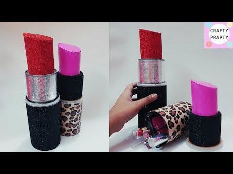 DIY Organizer/How to make Giant Lipstick/ DIY Lipstick Organizer/DIY Storage Box/ Lipstick Container