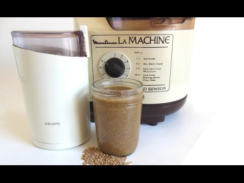 How to Make Natural Sesame Tahini in Food Processor - Moulinex La Machine LM5, Krups Coffee Grinder