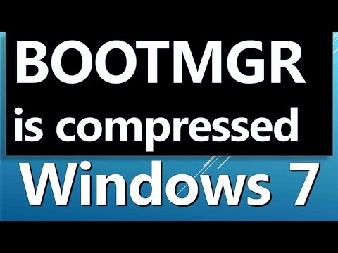 como consertar o Windows erro BOOTMGR tela preta é comprimido