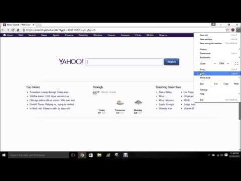 How to Change Yahoo Homepage to Google in Chrome
