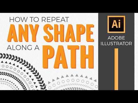 How to Repeat Any Shape Along a Path in Illustrator CC