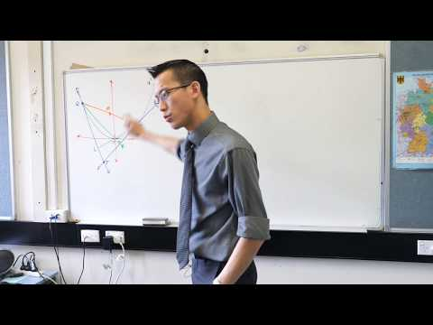 Parametrics Exam Question (1 of 2: Proving perpendicular lines)