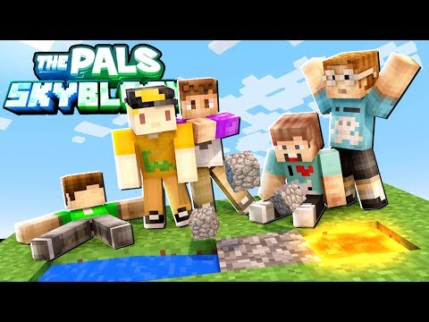WE MADE A COBBLESTONE GENERATOR! FINALLY! (The Pals SkyBlock Survival) #3