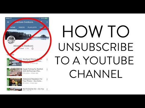 HOW TO UNSUBSCRIBE TO A YOUTUBE CHANNEL