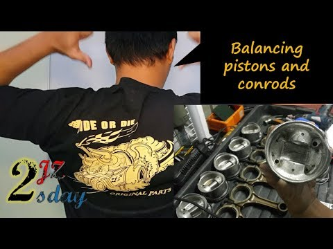 2JZ Tuesday #17: 2jz piston and con rod balancing (how to do weighing pistons and rods)