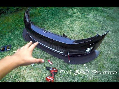 DYI Custom Front Splitter For $80!!!!
