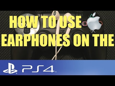 How to use Apple Earphones on the PS4