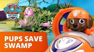 The Soggy Scary SWAMP MONSTER! 👾 PAW Patrol Toy Pretend Play Rescue