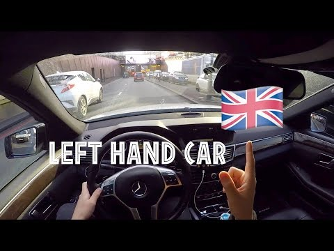 DRIVING A LEFT HAND CAR IN THE UK 🇬🇧