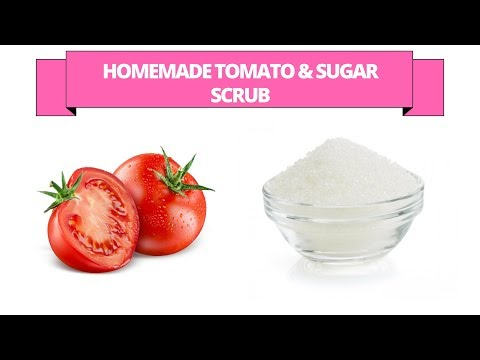 Tomato sugar scrub - Homemade tomato and sugar exfoliate