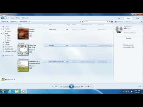 Learn Windows 7 - Burning CD's with Media Player
