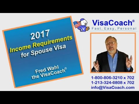 2017 USCIS Income Requirements for CR1 Spouse Visa CR107
