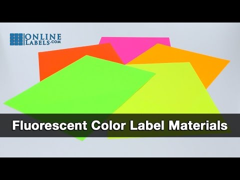 Fluorescent Color Labels - See Features and Uses