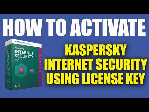 How to Activate Kaspersky Internet Security 2016 Using Key File - 100% Working License Key
