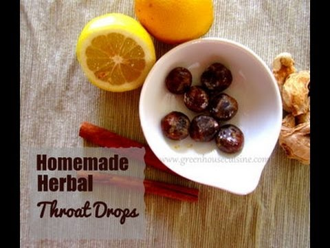 Homemade herbal throat drops -natural cold remedy