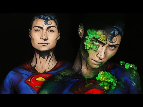 Kryptonite Superman/Superman Comic Makeup Tutorial