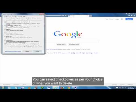 How to delete cookies and temporary files in Internet Explorer
