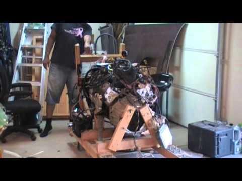 Wood Engine Test Stand Part 27 LS1 Engine Mount