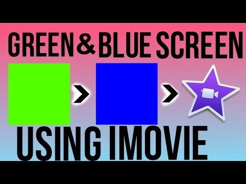 HOW TO USE BOTH GREEN AND BLUE SCREENS IN IMOVIE!