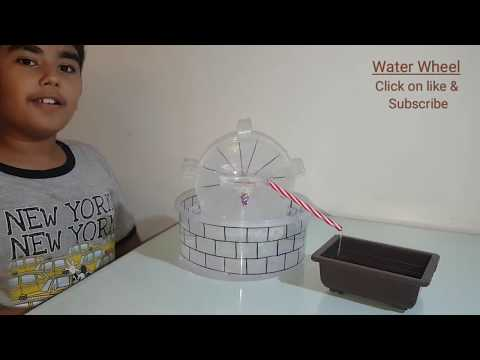 Water Wheel - Working Model   DIY Project - stuff available at home   Kabir Mathur   Irrigation