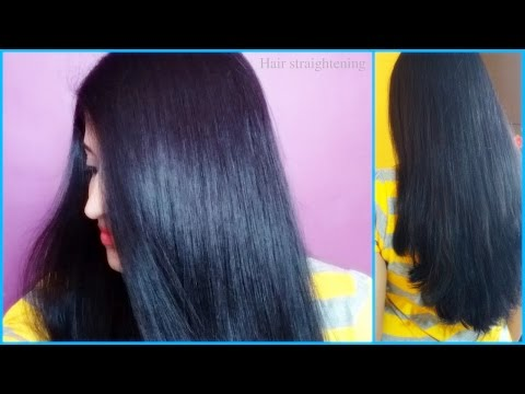 Curly, Frizzy To Straight, Shiny and Soft hair | Hair straightening in hindi