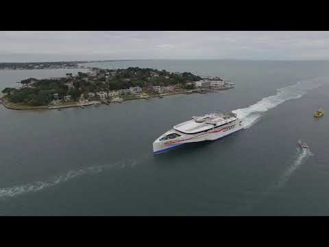 Super speeded up Ferry in Poole