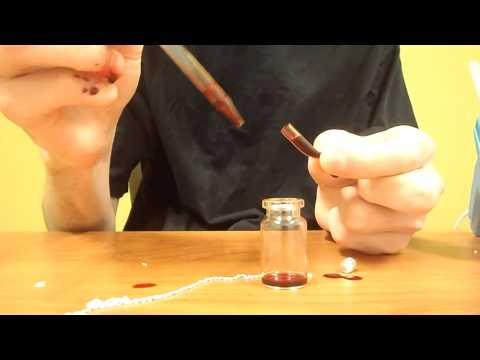 How to fill your own Blood Vial.  Truly Unique Alternative Jewelry