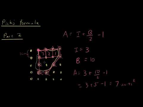 Year 12 Maths A - Use Pick's formula to find the area of shapes (part 2)