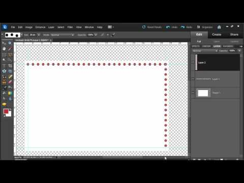Draw a dotted line in Photoshop Elements