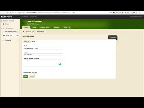 Add Contact Information to Homepage in Schoolwires