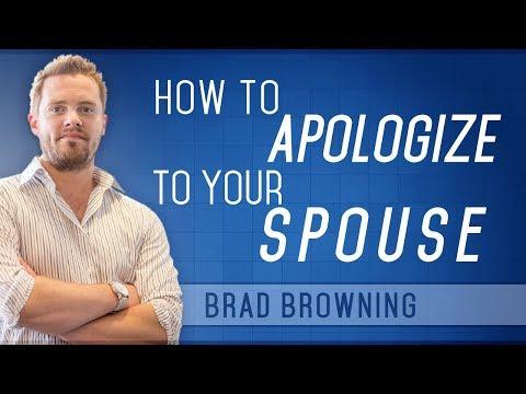 Apologize Already! How to Apologize to Your Spouse