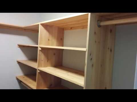 DIY Cedar Closet Shelving system  - Part 1 - Shelves