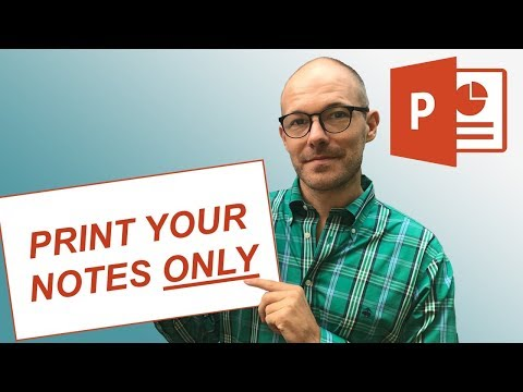 Print PowerPoint Notes Only (Solved)