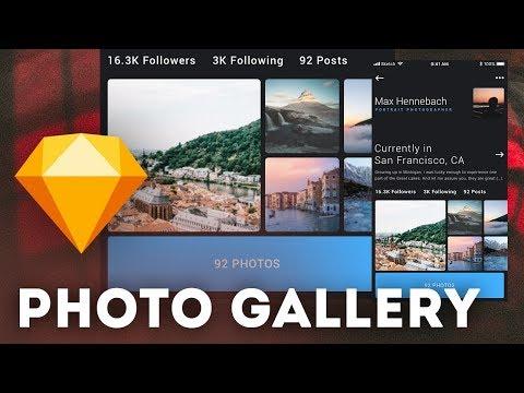 Photo Gallery UI • Sketchapp Tutorial / Sketch Tutorial