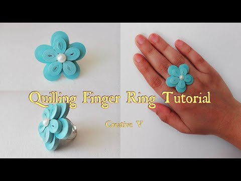 How to Make Quilling Finger Ring Tutorial /  Design 7