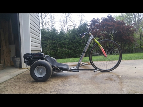 Drift trike build part 3 (seat, pegs, engine, and brake)