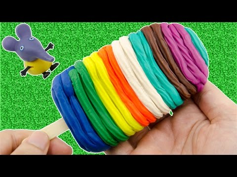 Play Doh Frozen! Make Rainbow Ice Cream With Play Dough Peppa Pig Toys For Kids