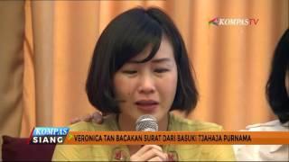 Veronica Tan Menangis Bacakan Surat dari Ahok