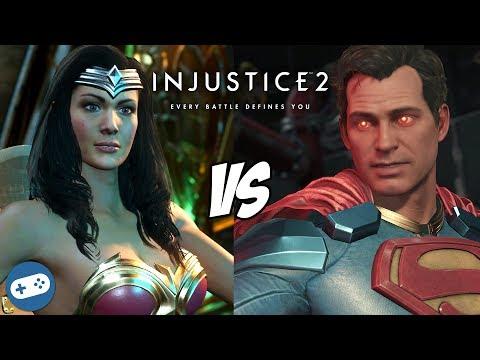 Wonder Woman VS Superman Injustice 2 Gameplay Versus PS4