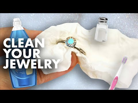 Cleaning Silver Jewelry Without Baking Soda! (Using Sea Salt & Cleaning Solution) | beautythatshines