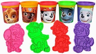 Play Doh Molds for Kids Learn Colors with Play Doh Can Heads Cartoon Cutters Creative for Kids