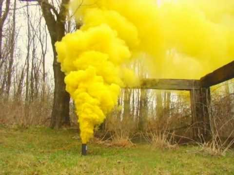 YELLOW Special Effects Smoke, 60 seconds