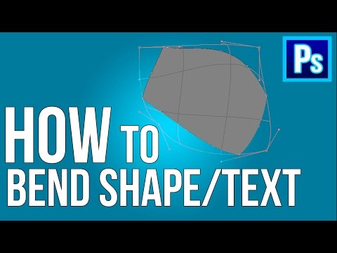 How to Bend Shape or Text in Adobe Photoshop CC | 2017