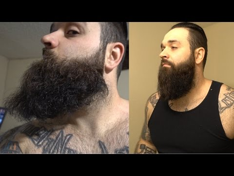 How I straighten my beard like a BOSS !!!! | Curly beard fix