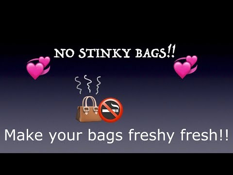 Remove odors in your handbags!